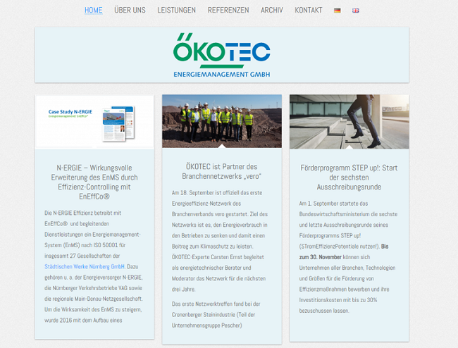 Screenshot Ökotec GmbH